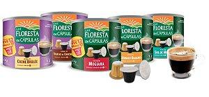 Kit 5 Latas Cápsulas Floresta Família (compatível com máquinas Nespresso)