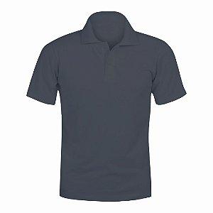 Camisa Polo Cinza Grafite