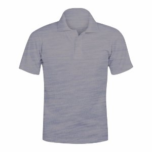 Camisa Polo Cinza Mescla