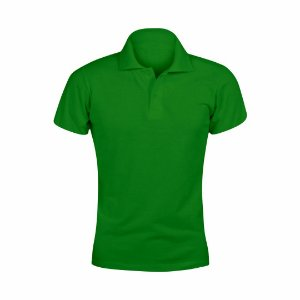 Baby Look Polo Verde c/ Bordado no Peito