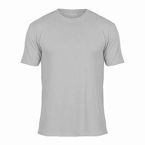 Camisa Cinza Claro c/ Bordado no Peito