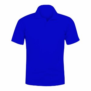 Camisa Polo Azul Royal c/ Bordado no Peito