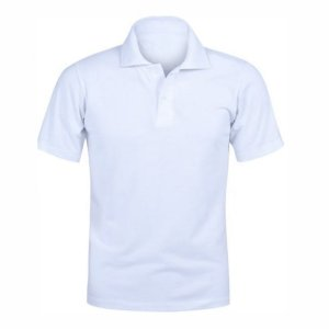 Camisa Polo Branca c/ Bordado no Peito