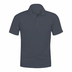 Camisa Polo Cinza Grafite c/ Bordado no Peito