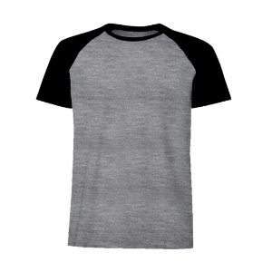 Camisa Raglan Preta c/ Bordado no Peito
