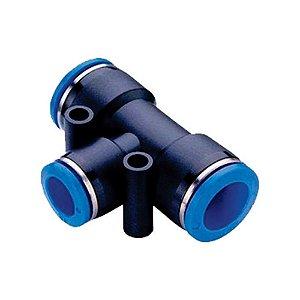 TEE União Tubo com Redução Engate Rápido Pneumático de 4 à 16mm