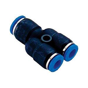 União Tubo Y com Redução Engate Rápido Pneumático de 4 à 16mm