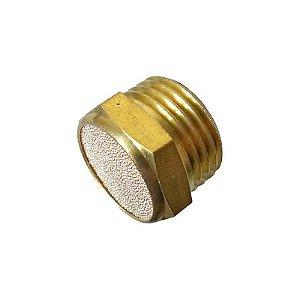 """Silenciador Pneumático Bronze Tampão 1/8"""" à 1/2"""""""