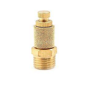 """Silenciador Pneumático Bronze com Regulagem de Fluxo 1/8"""" à 1/2"""""""