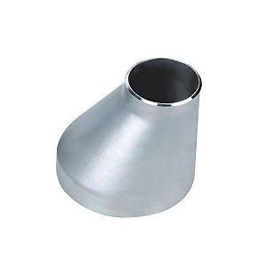 Conexão Tubular Redução Excêntrica Aço Inox Schedule 5 10 40 80 ASTM A430