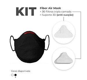 Kit Mascara Fiber Knit Air Z992-0998 Preto