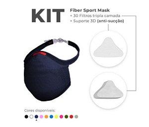 Kit Mascara Fiber Knit Sport Z754-8192 Azul