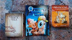 Combo com 3 livros da Ueba com souvenirs