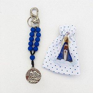 Chaveiro Sagrada Família Azul