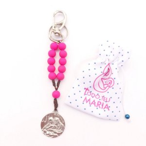 Chaveiro Sagrada Família Rosa