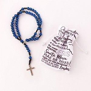 Terço de Pulso Cruz Sagrada Azul