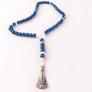 Terço de Pulso Nossa Senhora Aparecida Azul