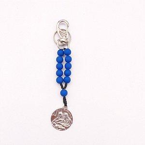 Kit com 5 Chaveiros Sagrada Família Azul