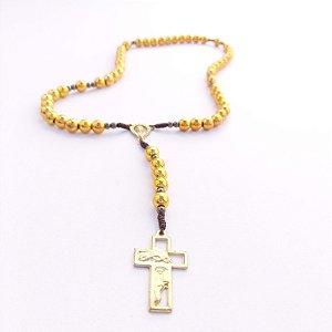 Kit com 08 Terços Nossa Senhora de 12 Estrelas Dourado