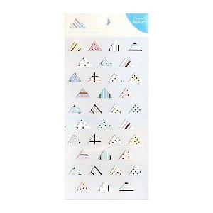 Adesivo Divertido Papel - Basic Sticker Triângulos Nekoni