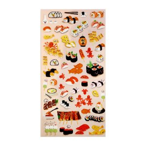 Adesivo Divertido Transparente - Comida Japonesa Sushi Nekoni