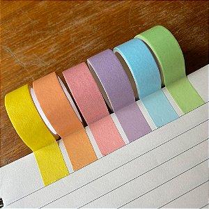 Kit de 6 Washi Tapes Tons Pastel