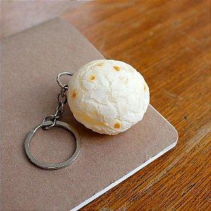 Chaveiro Comidinhas Réplica Com Textura Similar ao Real - Pão de Queijo