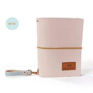Mini Capa Pink Plum (Para 4 Mini Blocos) Para Mini Planner A.Craft