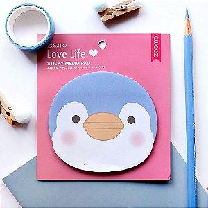 Post-it Sticky Memo Pad Pinguim Rosa - Zaomo