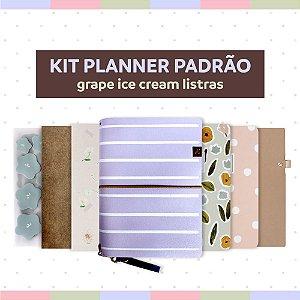 Kit Planner Padrão Grape Listras