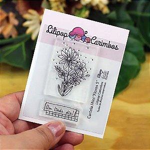Kit de Carimbos Mini Flores 5 - Lillipop