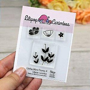 Kit de Carimbos Mini flores 4 - Lillipop