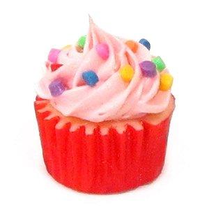 Ímã - Cupcake Rosa Confete Colorido