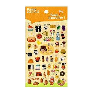 Adesivo Divertido Epoxy - Food Collection 3