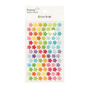 Adesivo Divertido Epoxy - Color Seal Estrelas Coloridas M
