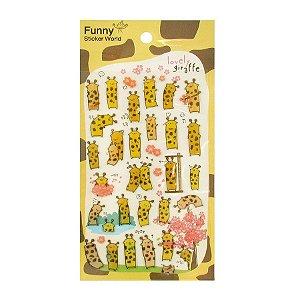 Adesivo Divertido Epoxy - Lovely Giraffe
