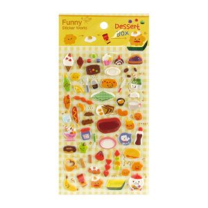 Adesivo Divertido Puffy - Dessert Box