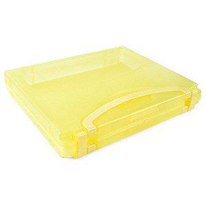 Pasta Rígida com Alça Amarela