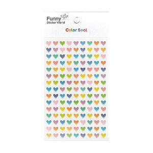 Adesivo Divertido Epoxy - Color Seal Mini Corações Coloridos