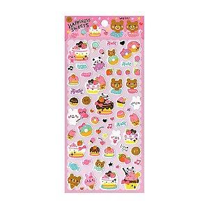 Adesivo Divertido Papel - Happinnes Sweets