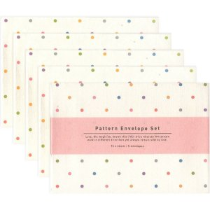 Kit Mini Envelopes Pattern Envelope Set Poá Colorido
