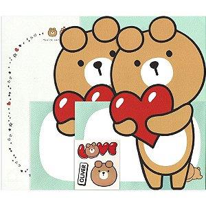 Papel de Carta Urso Oliver Verde