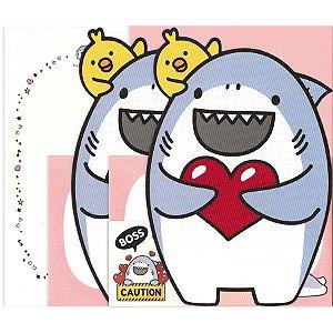 Papel de Carta Tubarão Boss Rosa