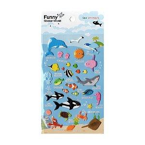 Adesivo Divertido Puffy - Sea Animals