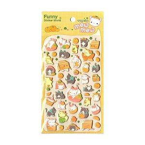 Adesivo Divertido Puffy - Tangerine Mew Mew