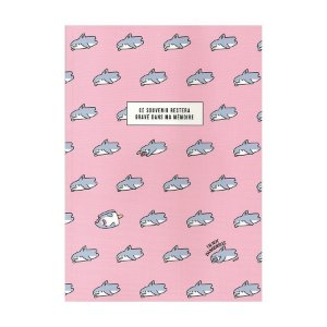 Caderno Brochura Ce Souvenir... Galapagos Friends Tubarão Boss Rosa - Artbox