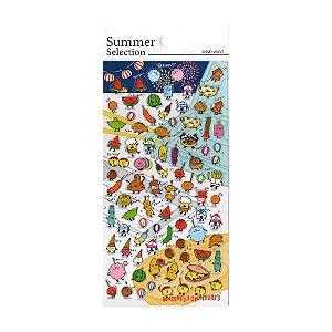 Adesivo Divertido Transparente - Summer Selection Comidinhas Wasshoi! Omatsuri's!