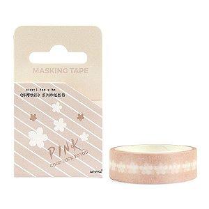 Fita Decorativa Washi Tape - Pink Sakura Rosa