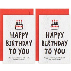 Mini Cartão Com 2 Happy Birthday To You - Artbox