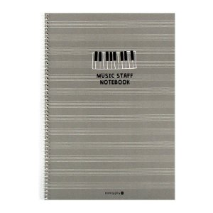 Caderno de Música Music Staff Notebook Cinza - Morning Glory